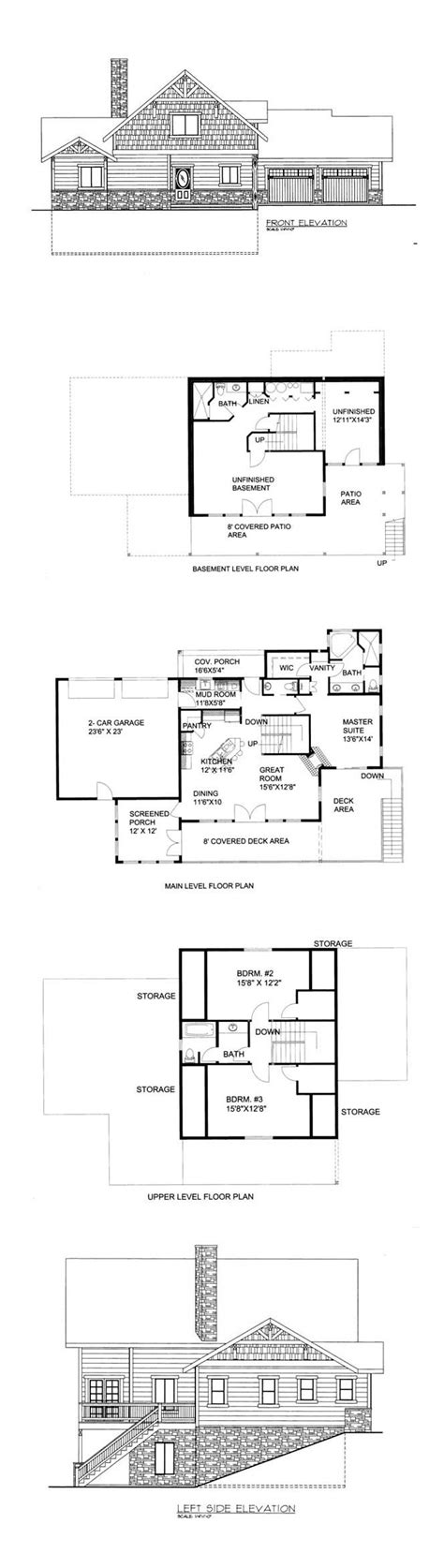 hillside floor plans 49 best hillside home plans images on pinterest hillside