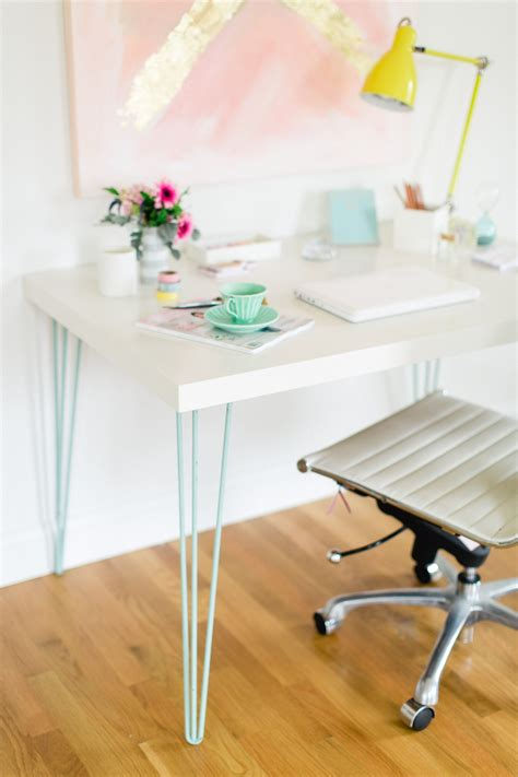 Ikea Diy Desk Ikea Hack Modern Desk Hairpin Legs Desks And Legs
