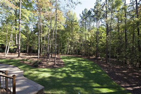 Backyard Landscape Wooded Backyard Traditional Landscape Raleigh By