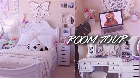 room tour lilisimply all white shabby chic amp girly
