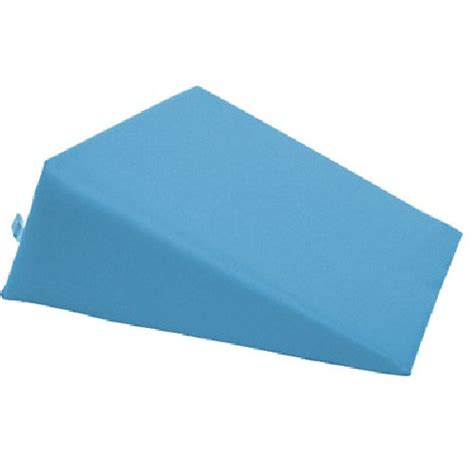 small foam wedge pillow blue sports supports