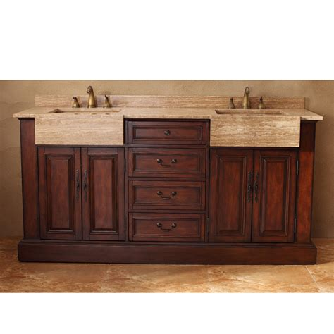 Bathroom Vanities Boston Martin 72 Quot Boston Vanity With Travertine Top Cherry Free Shipping Modern Bathroom