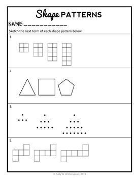4th grade patterns 3 day mini unit number patterns