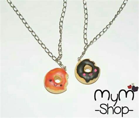 pulseras y cadenas para parejas collares para pareja donas kawaii cute amor cadenas