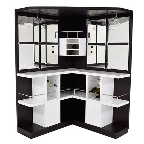 black corner bar cabinet nostran oak corner bar w table el dorado furniture