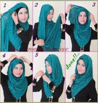 tutorial hijab menutup dada contoh tutorial hijab modern menutup dada