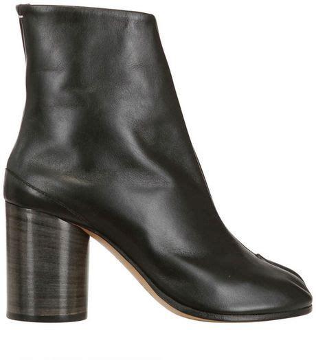 maison martin margiela 80mm tabi leather boots in black lyst