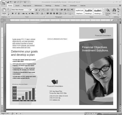 free templates for brochures publisher free brochure microsoft publisher templates lindwoodsg
