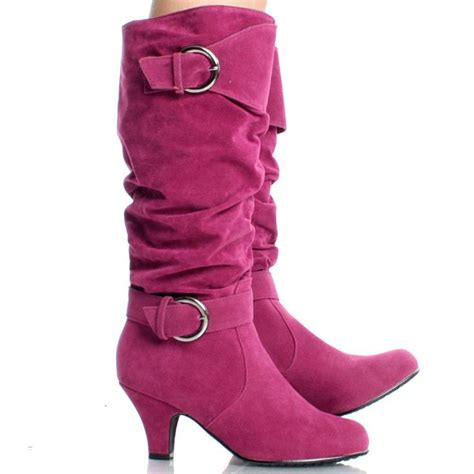 most comfortable knee high boots image detail for hot pink suede comfortable winter womens