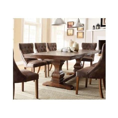 Farmhouse Dining Table With Leaf Country Dining Table Farmhouse Pedestal Solid Wood Extending Leaf Oak Ebay