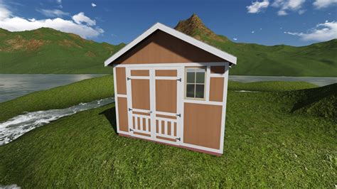 tall gable storage shed plan
