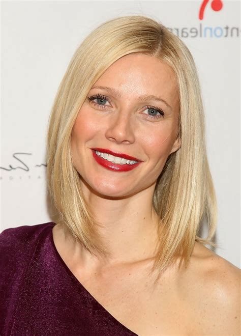diy hairstyles for one shoulder dresses gwyneth paltrow medium straight hairstyle for one shoulder