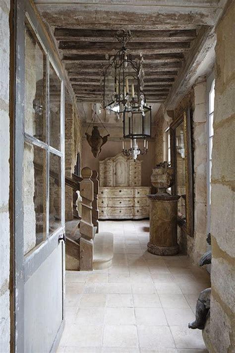 rustic hallway french limestone tiles pinterest