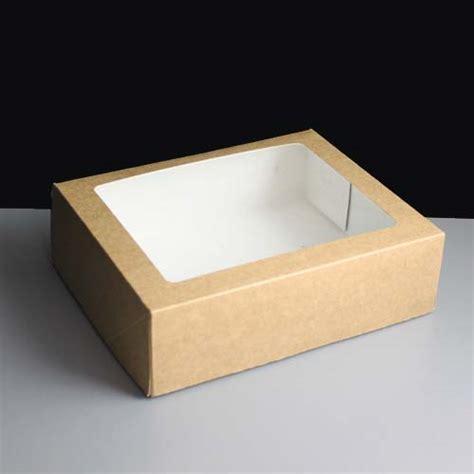 cake window boxes small kraft windowed box 125