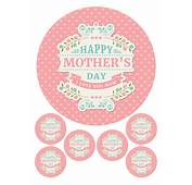 MOTHERS DAY LOVE MUM MOM LABEL 75 &amp 6 X 2 ROUND EDIBLE