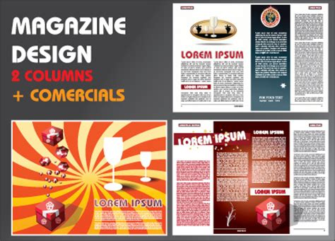layout magazine template free download vector brochure and magazine layout design set free vector
