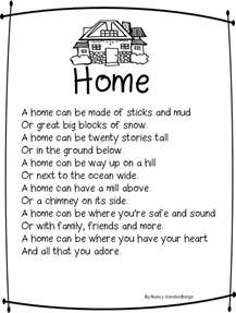 poems about home grade wow home sweet home quot human characteristics