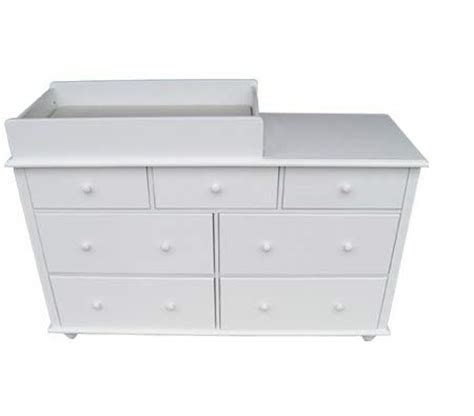 White Wooden Change Table 7 Drawer New Zealand Pine Mdf Baby Change Table With Pad White Sales