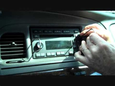 removing radio from a 1986 mercury mercury grand marquis and marauder stereo removal youtube