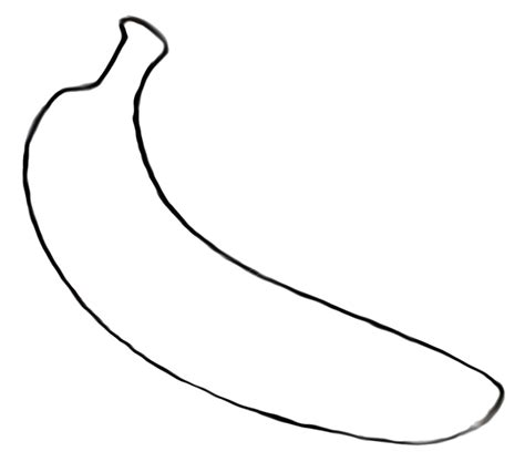 a banana coloring pages