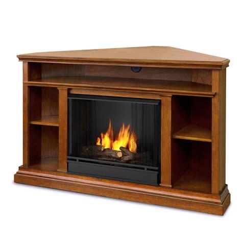 Corner Gas Fireplace Lowes by 50 75 Quot Churchchill Oak Entertainment Center Corner Gel