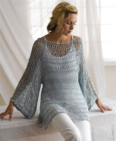 crochet pattern lacy jumper sweater patterns lace tunic and yarns on pinterest
