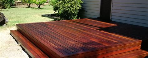 Modern Budget Deck timber decking perth wa merbau spotted gum jarrah