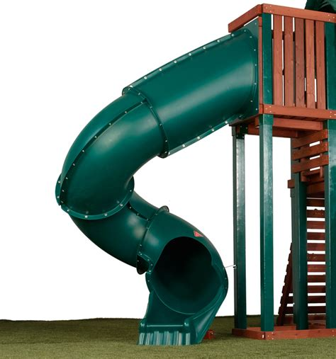 swing set tube slide big slide with 7ft turbo tube design by swing n slide