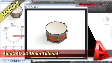 drum tutorial videos autocad 3d modeling rendering drum tutorial exercise 39