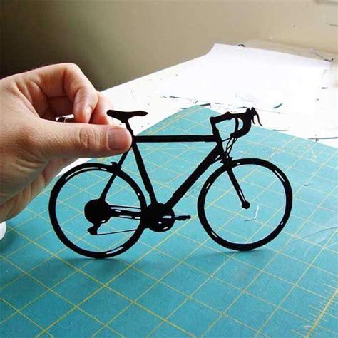 Papercraft Bike - paper cut bicycles by joe bagley