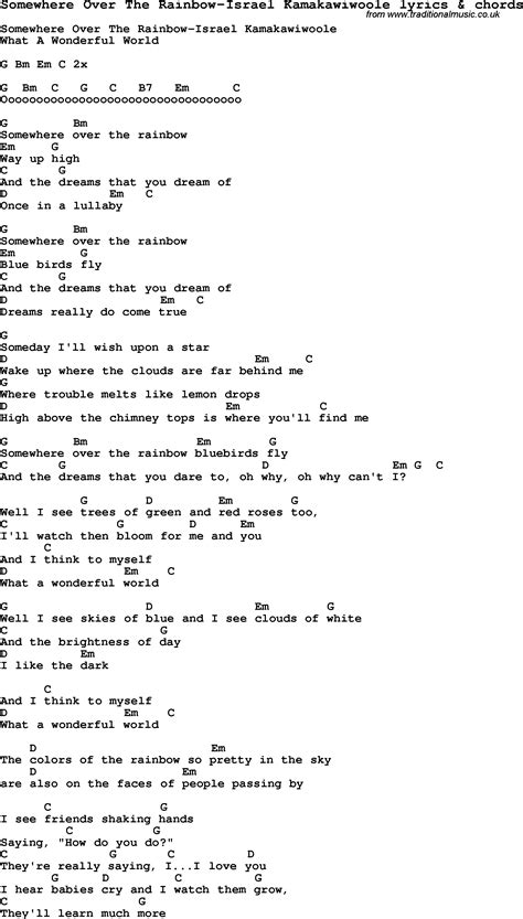 the rainbow testo song lyrics for somewhere the rainbow israel