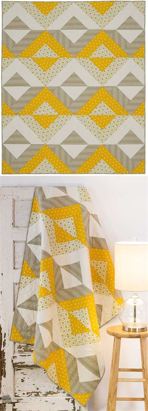 Simple Patchwork Quilt Pattern - the contrasting fabric choices here really make this quot eggs