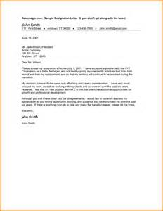 Format For Writing A Resignation Letter by 9 How To Write A Resignation Letter Sle Ledger Paper