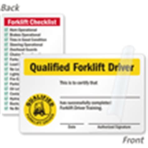forklift certification wallet card template sided forklift wallet card qualified driver card
