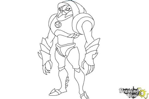 How To Draw Waterhazard From Ben 10 Omniverse Drawingnow