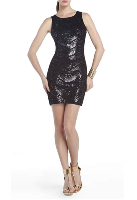 Wedges Richelle Lulu bcbgmaxazria bcbg enna sequined cocktail dress in black lyst