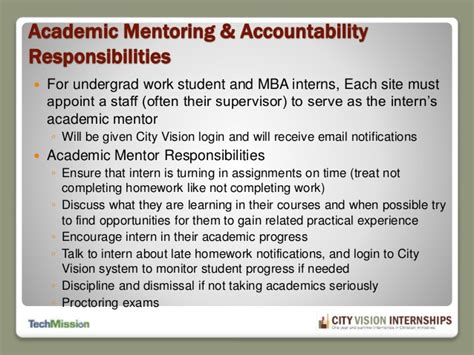 Internship Guidelines For Mba Students by Internship Site Director Orientation 12 23 14