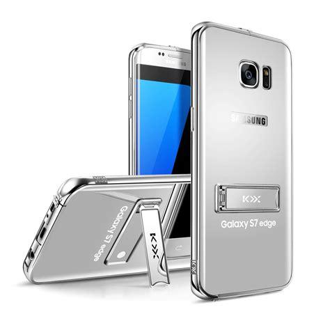 casing galaxy s7 flat mirror for samsung galaxy s7 s7 edge luxury metal bumper frame