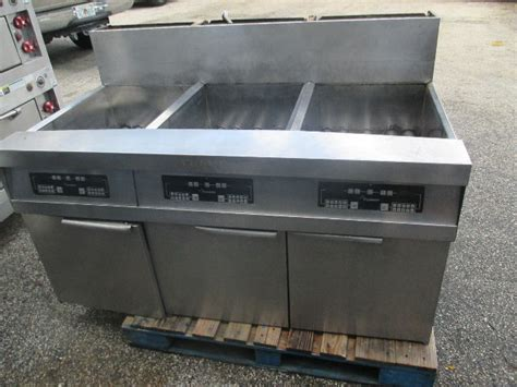dean frymaster stainless steel  station lpg deep fryer propane gas