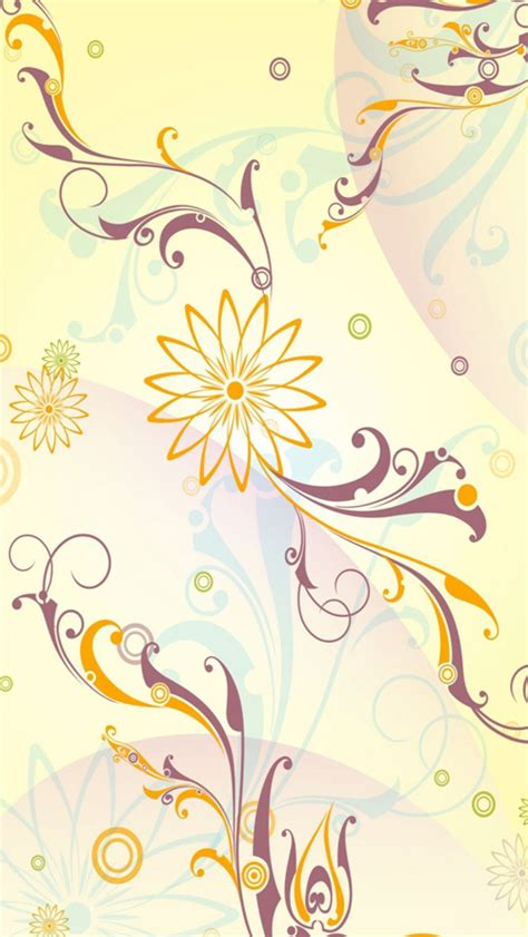 abstract flower pattern iphone wallpaper 30 fresh and cool iphone 5 wallpapers