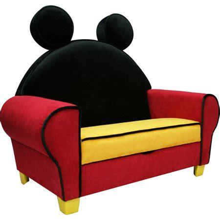 sillon mickey disney mickey mouse deluxe sofa with storage walmart