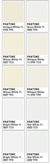 color code white pantone white going to the chapel accent
