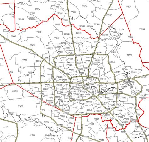 printable zip code map houston tx houston tx zip code map