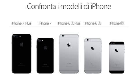 la lineup degli iphone a confronto iphone italia