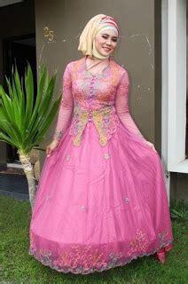 Gamis Pesta Warna Pink Fanta 38 baju pengantin muslim warna terfavorit model terupdate