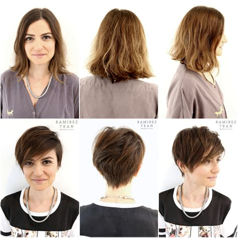 how to style your hair while a pixie grows out chic modern pixie done the salon in miami ramirez