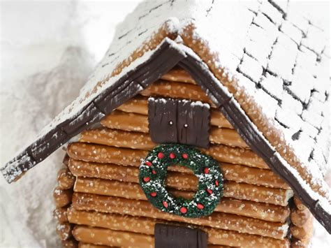 gingerbread log cabin template make a log cabin gingerbread house hgtv