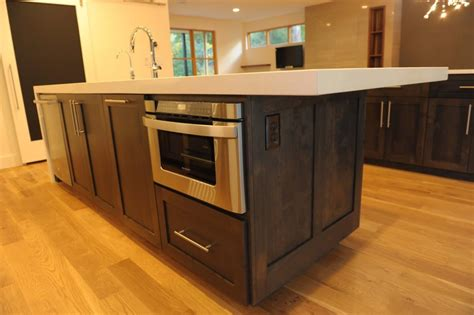 kitchen island with microwave 9 places in kitchen to shelf your microwave bonito designs