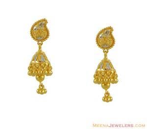Chandelier Pendant Necklace 22k Gold Indian Jhumki Erfc8570 22kt Gold Jhumki