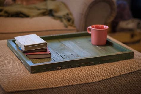 Handmade Trays - made reclaimed wood ottoman tray by reformed wood